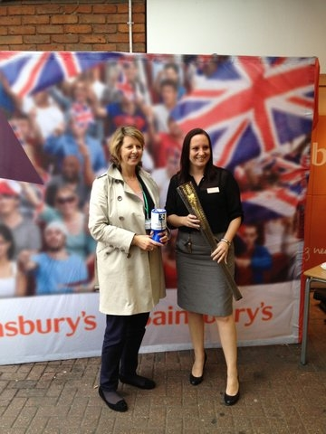 JSE's Grief Team Manager Nickey Price With Sainsbury's Redhill HR Manager Louise Gregory