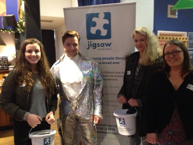 Jigsaw (South East)'s Duke Of Edinburgh Volunteers Holly And Jade With Prince Charming (AKA Martin Dickinson) And Jigsaw Office Administrator Katie