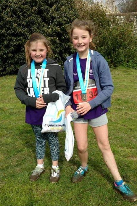 Ellie & Maddie With Medals