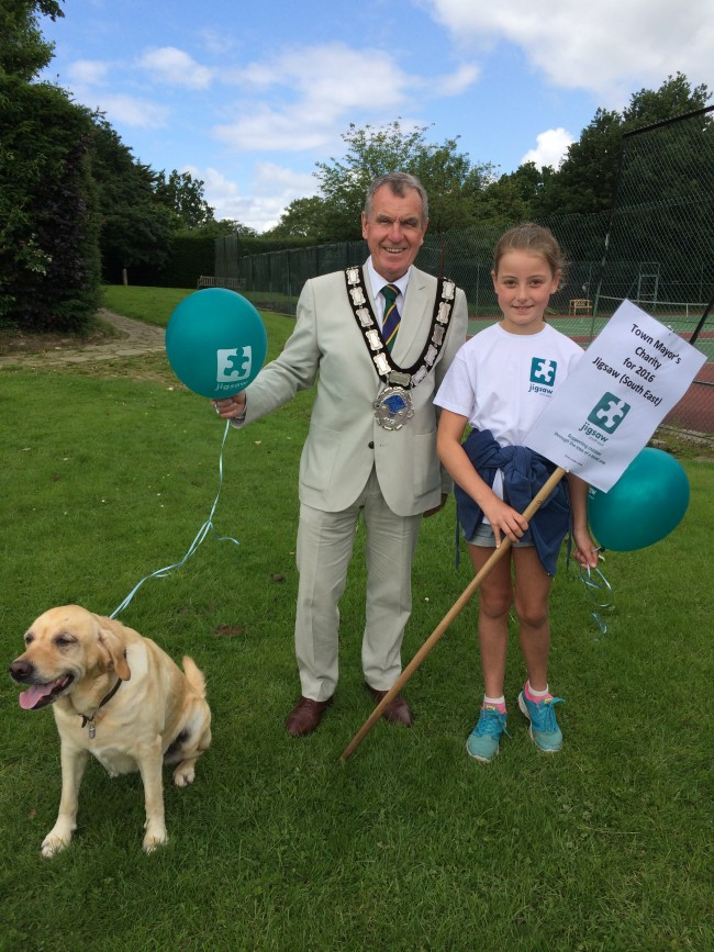 East Grinstead's Town Mayor Cllr Bob Mainstone, Daisy And Ellie