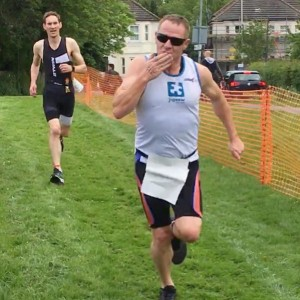 Andy Irvine near the finish line