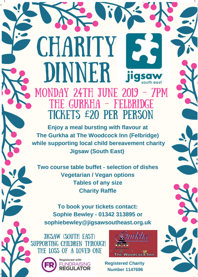 Eat A Curry With Friends And Fundraise For Jigsaw. What's Not To Like?