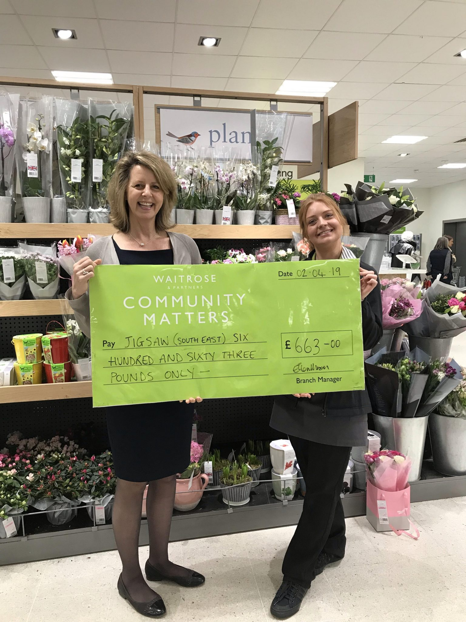Waitrose Shoppers Show Their Support For Jigsaw