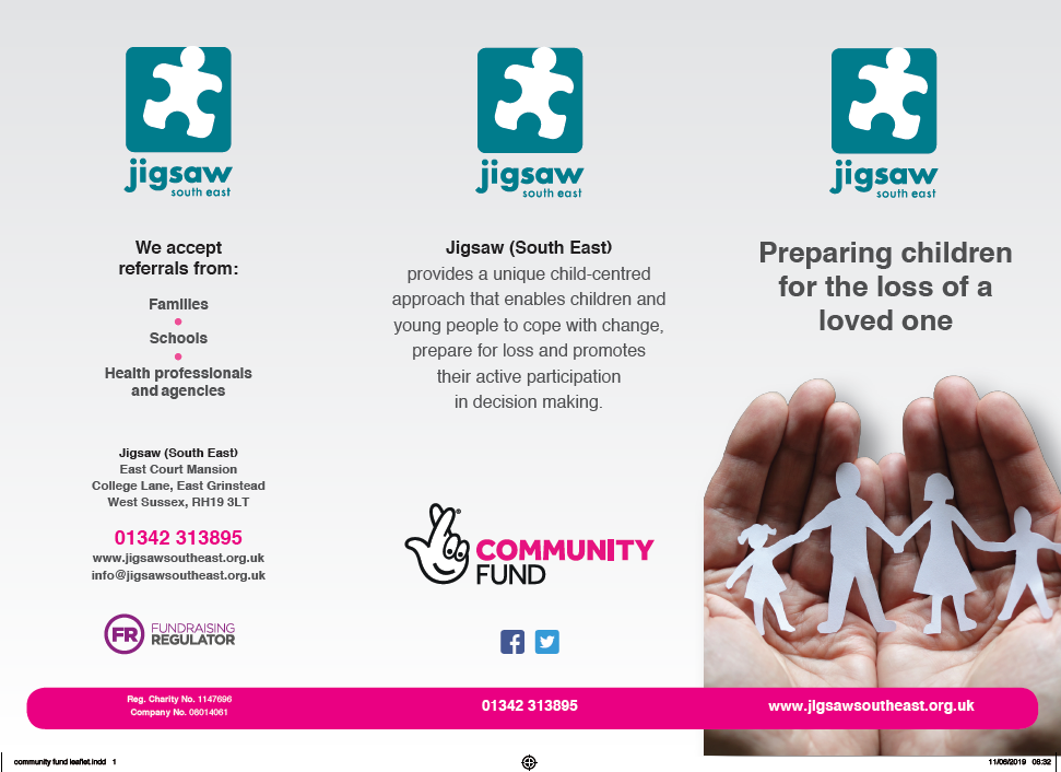 Jigsaw (South East) Bespoke Support For Children Facing The Loss Of A Loved One