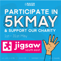 Take Part In #5kMay For Jigsaw (South East)!