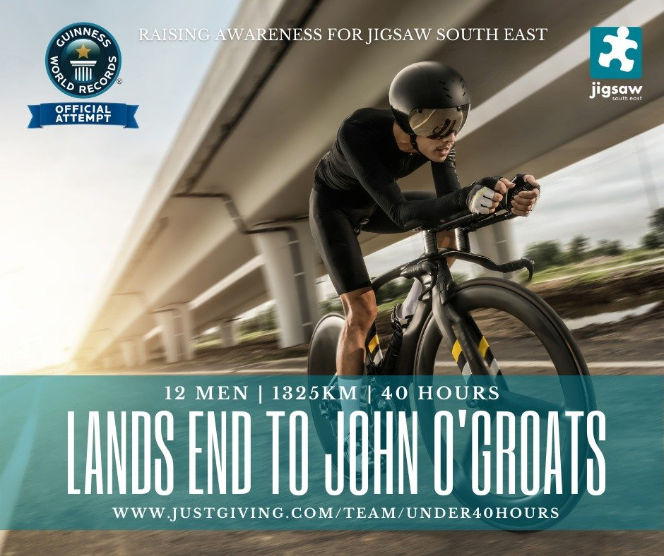 LEJOG Cycling Team's Guinness World Record Attempt In Support Of Jigsaw!